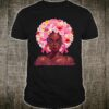 Pink Flowers Afro Hair Black Woman Breast Cancer Warrior Shirt