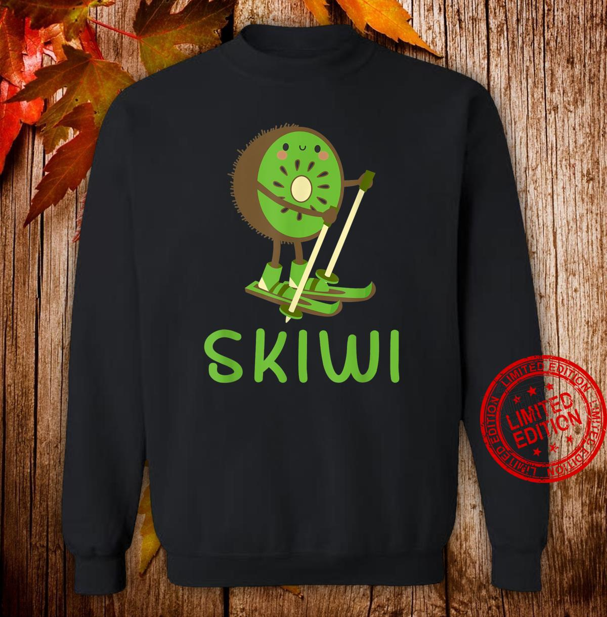 Skiwi Kiwi Ski Skier Fruit Fruits Winter Sports Apres Shirt sweater