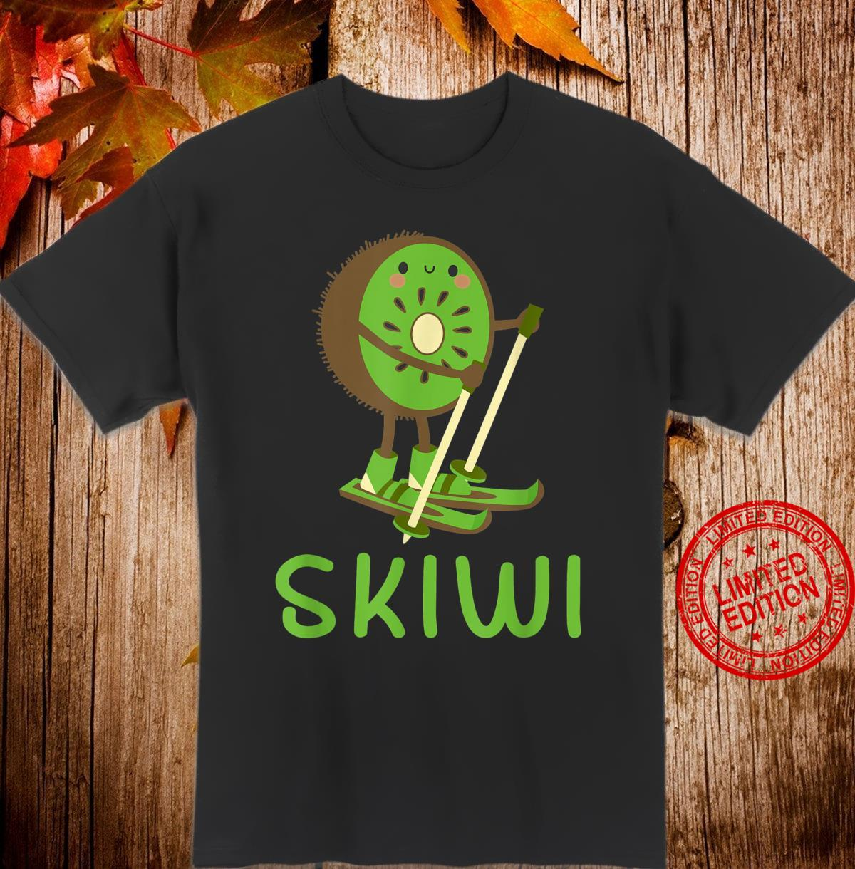 Skiwi Kiwi Ski Skier Fruit Fruits Winter Sports Apres Shirt