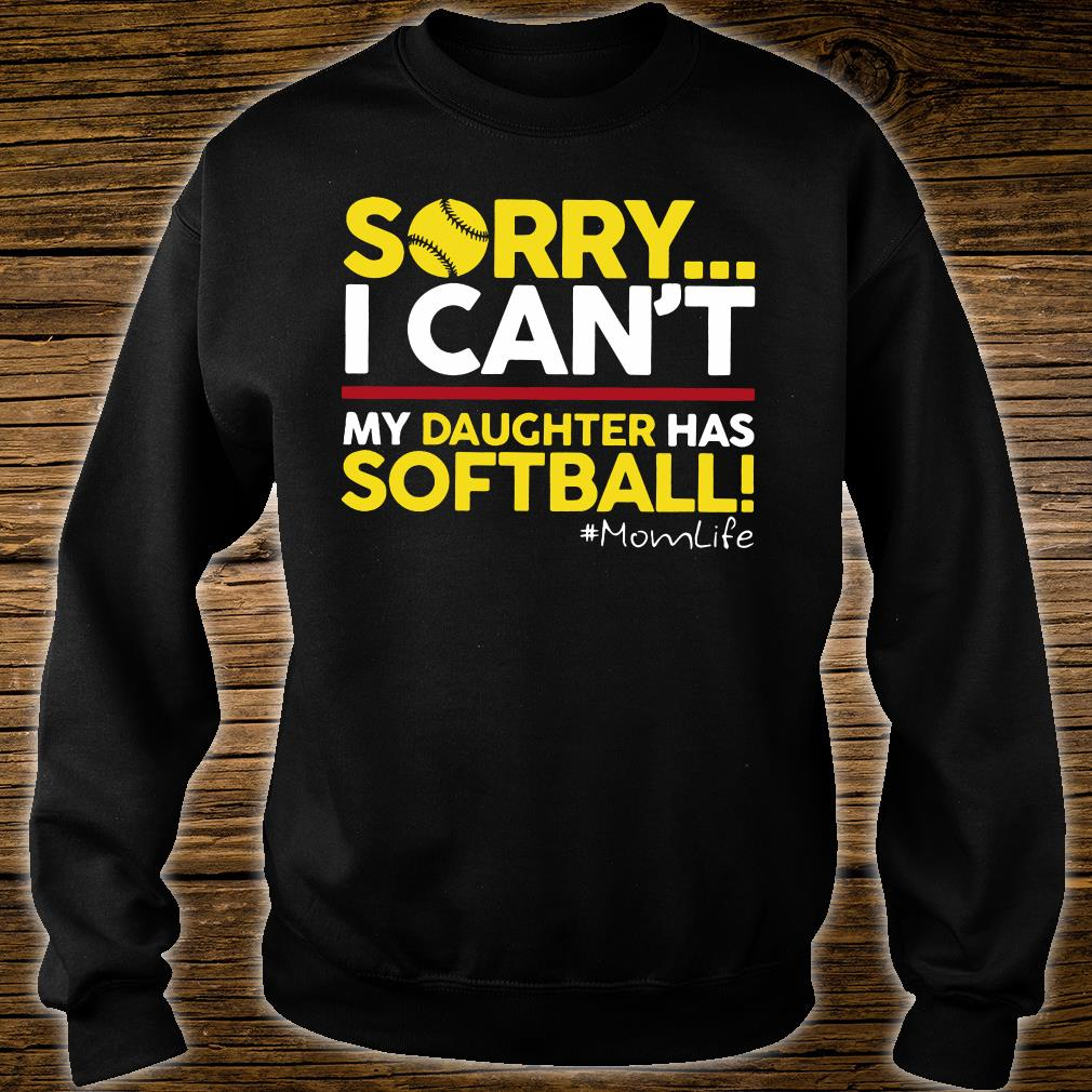 Sorry i can't my daughter has softball shirt sweater
