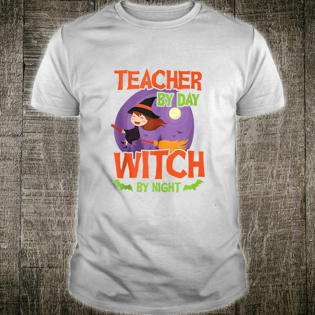 Teacher By Day Witch By Night Halloween Shirt