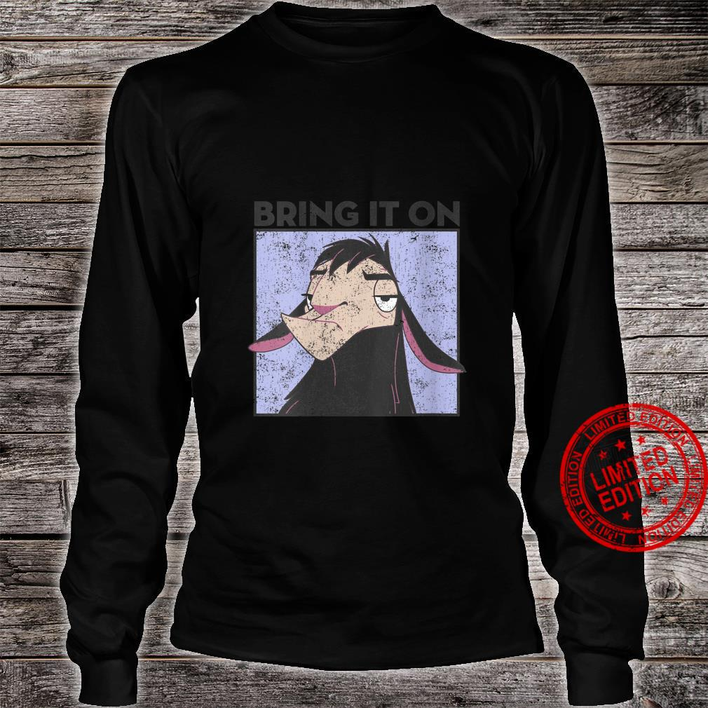 The Emperor's New Groove Kuzco Distressed Shirt long sleeved