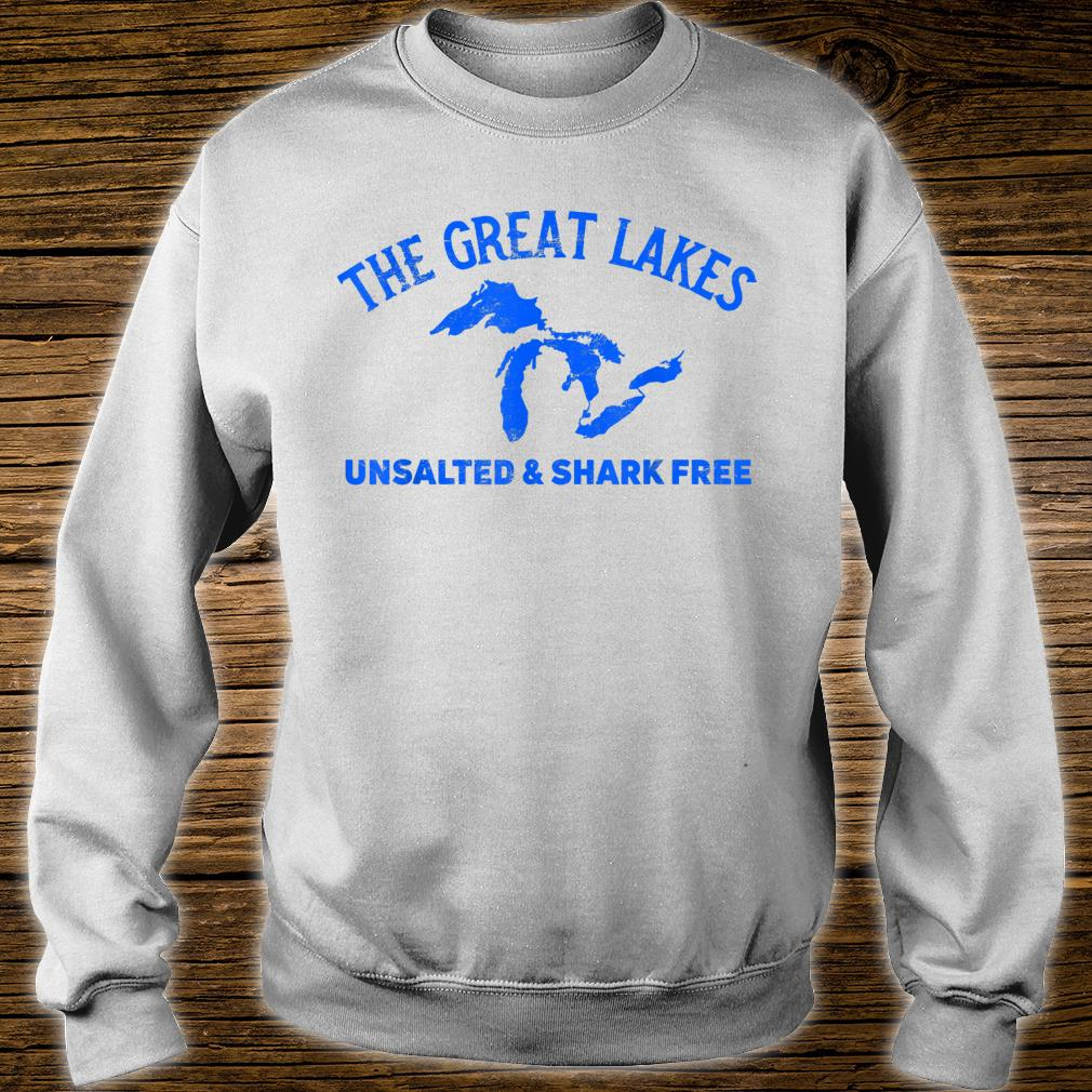 The Great Lakes Unsalted & Shark Free Michigan Vintage Shirt sweater