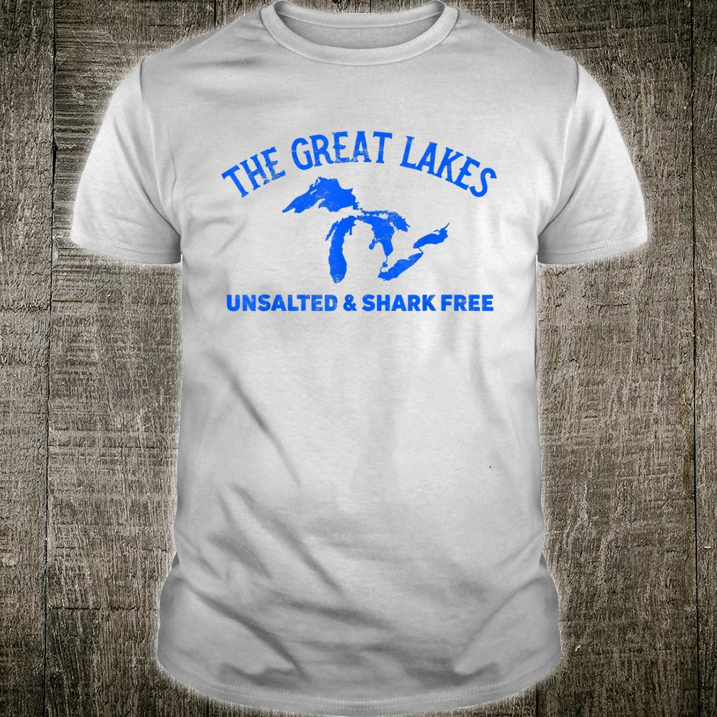The Great Lakes Unsalted & Shark Free Michigan Vintage Shirt