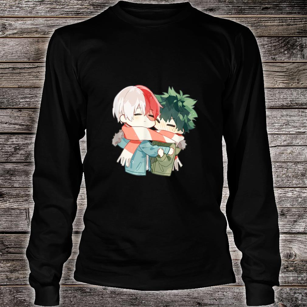 Todoroki and Midoriyas Chibi Couple Shirt Long sleeved