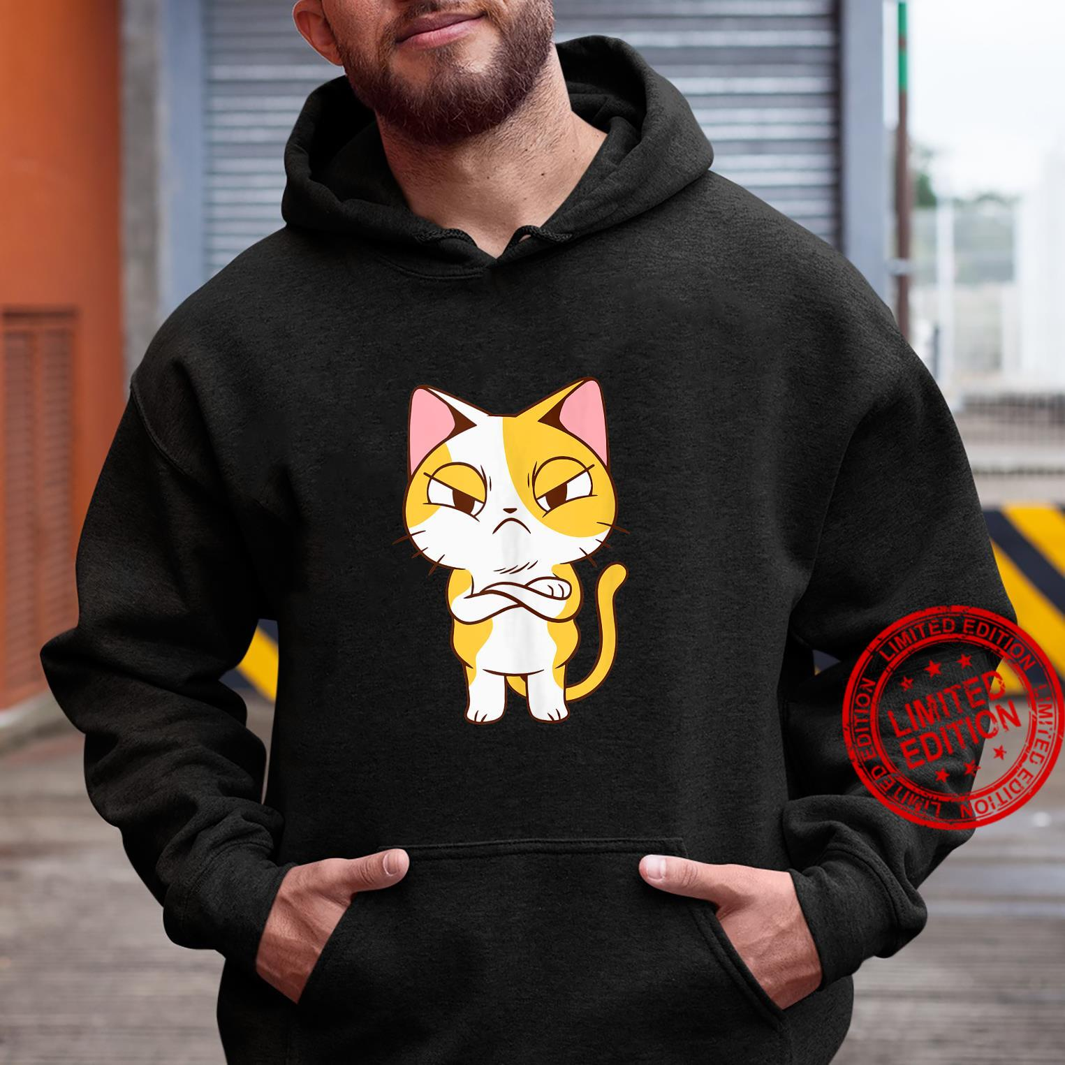 Unimpressed Disappointed Angry Kitten Shirt hoodie