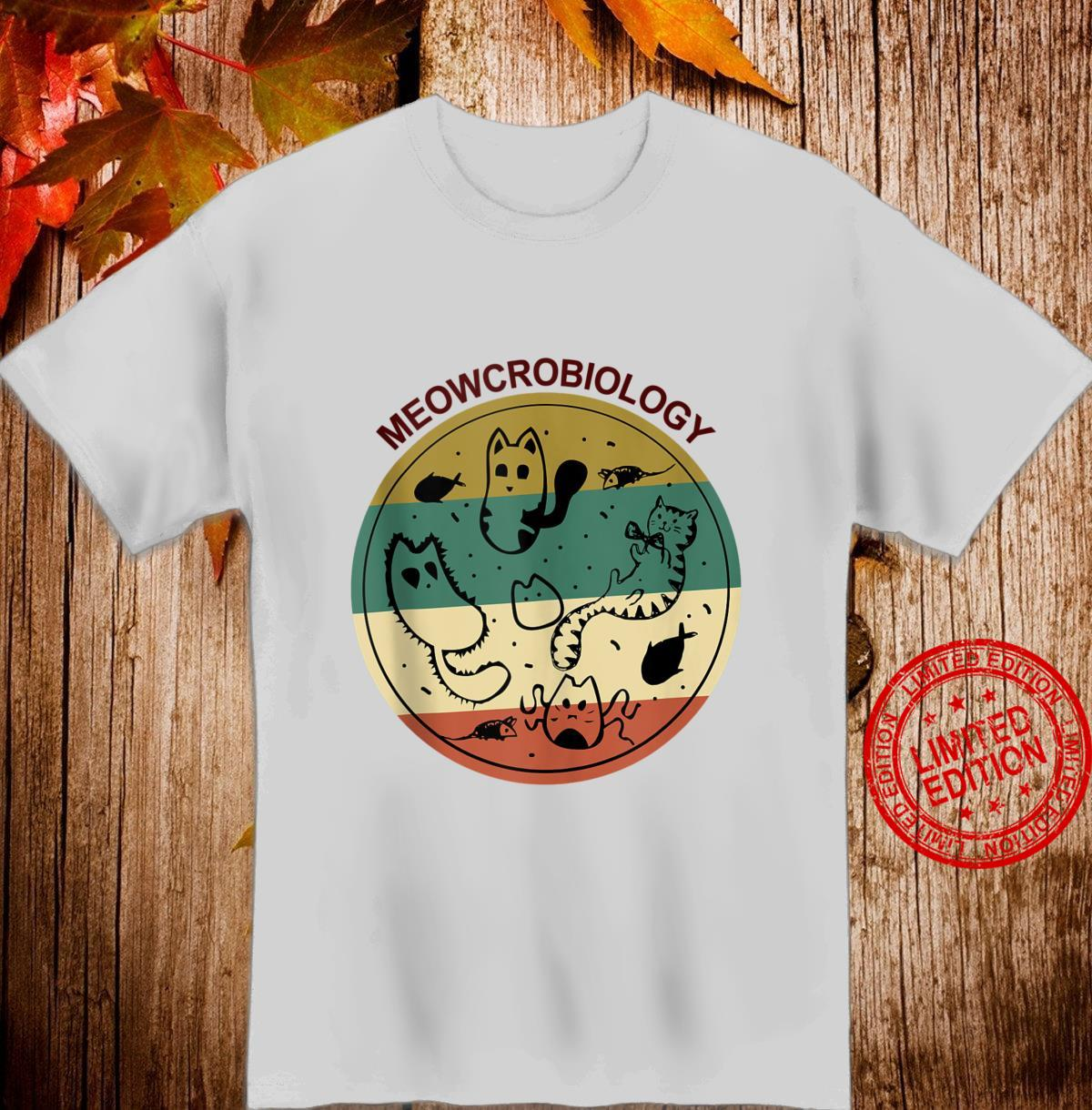 Vintage Cats Meowcrobiology for Family Shirt