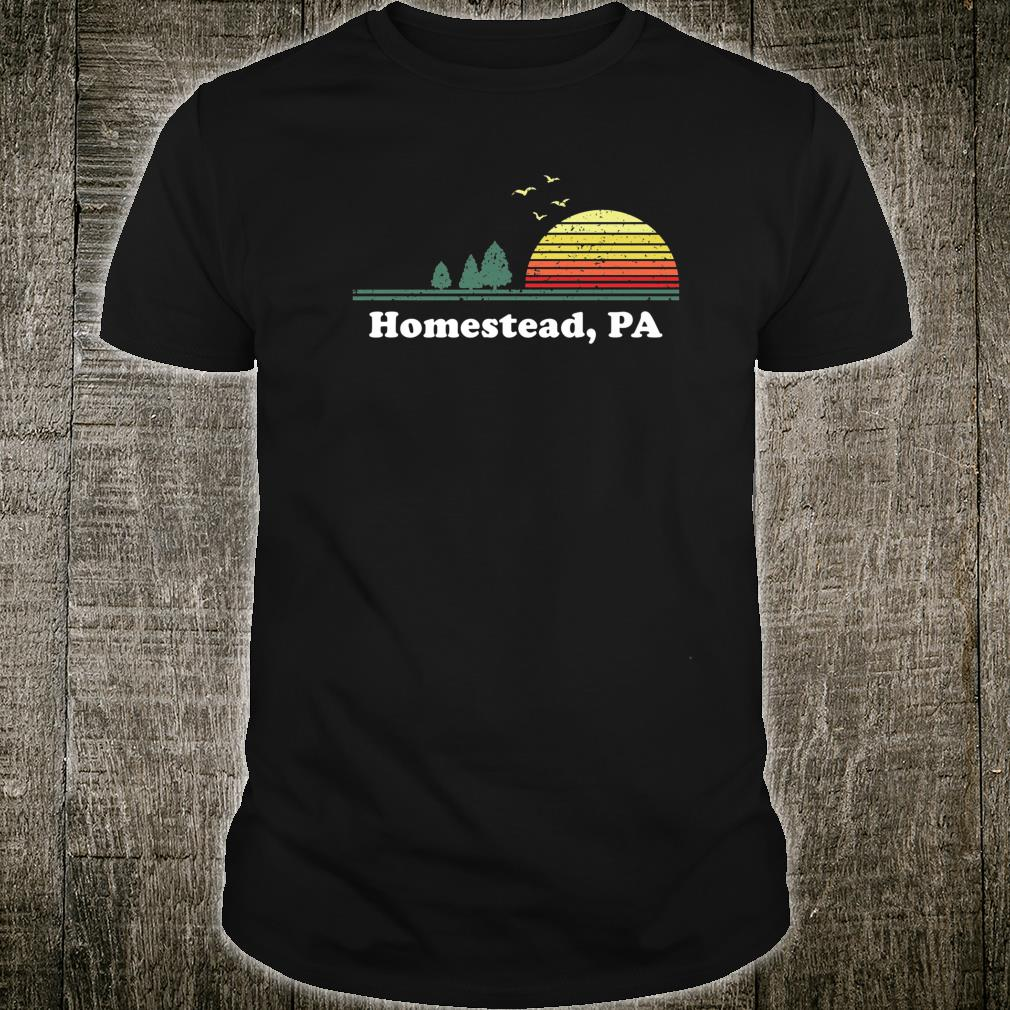 Vintage Homestead, Pennsylvania Home Souvenir Print Shirt