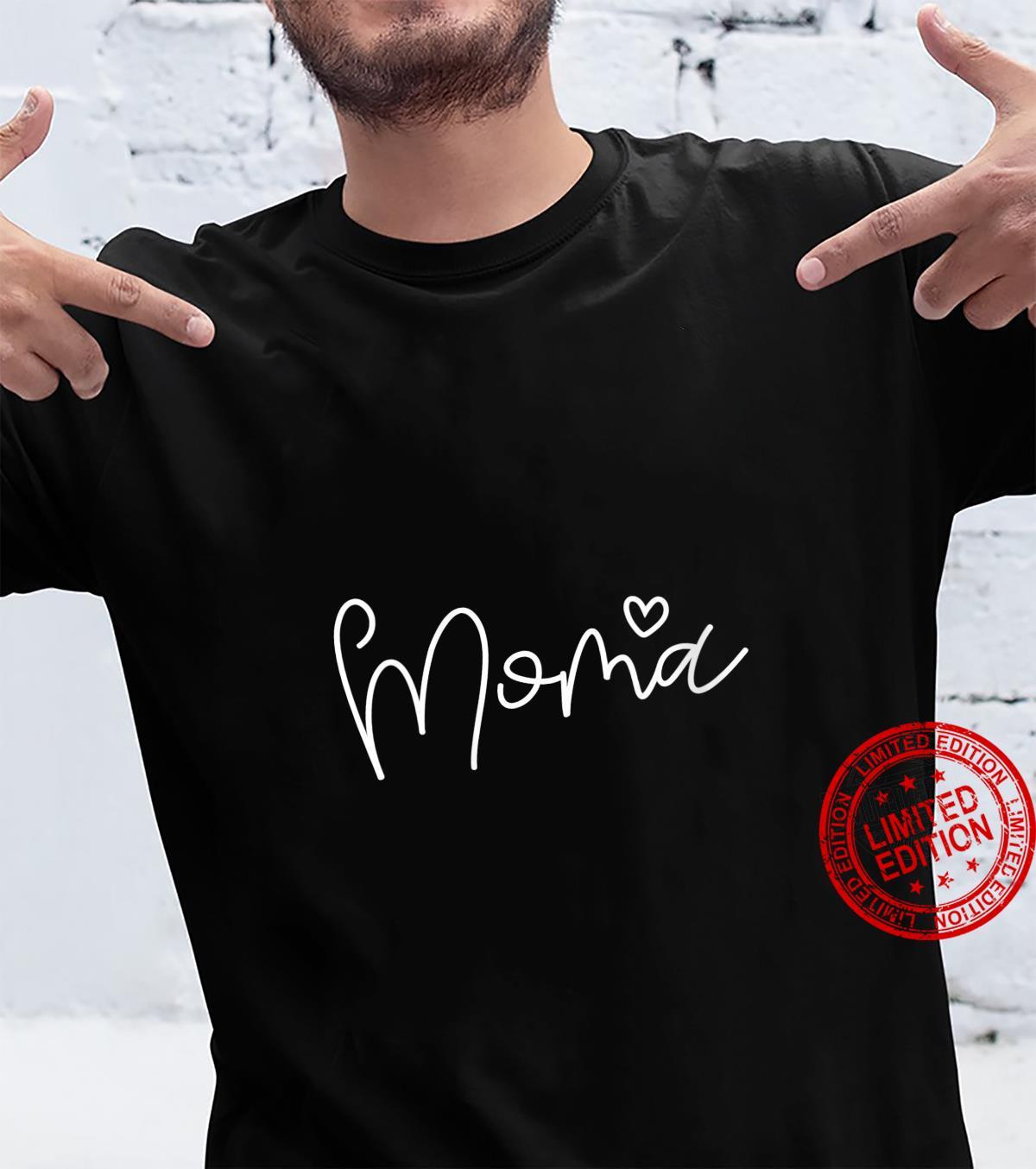 Womens Moma Heart Shirt For Grandma Christmas Shirt