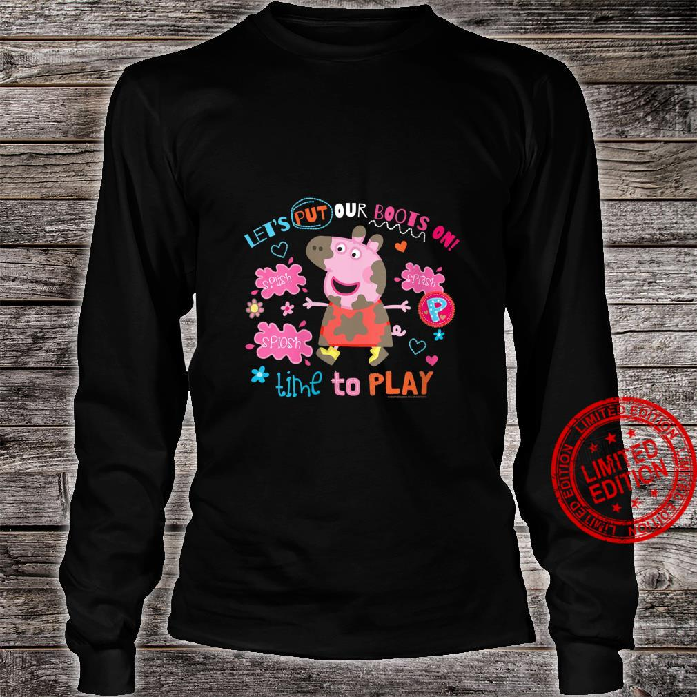 Womens Peppa Pig Boots On To Play Shirt long sleeved