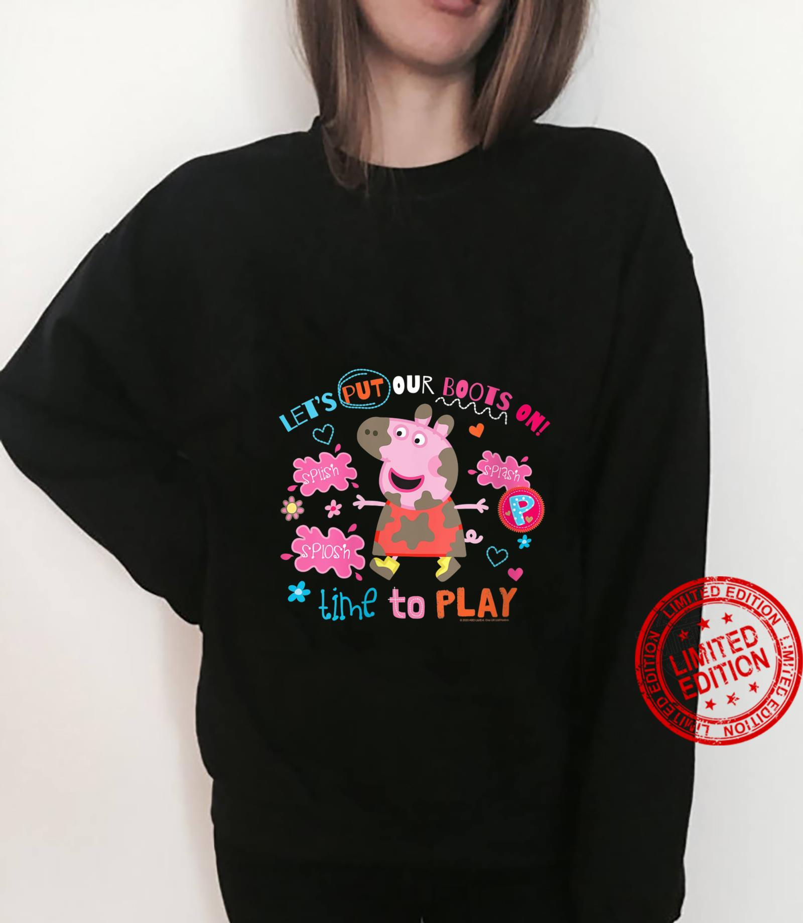 Womens Peppa Pig Boots On To Play Shirt sweater