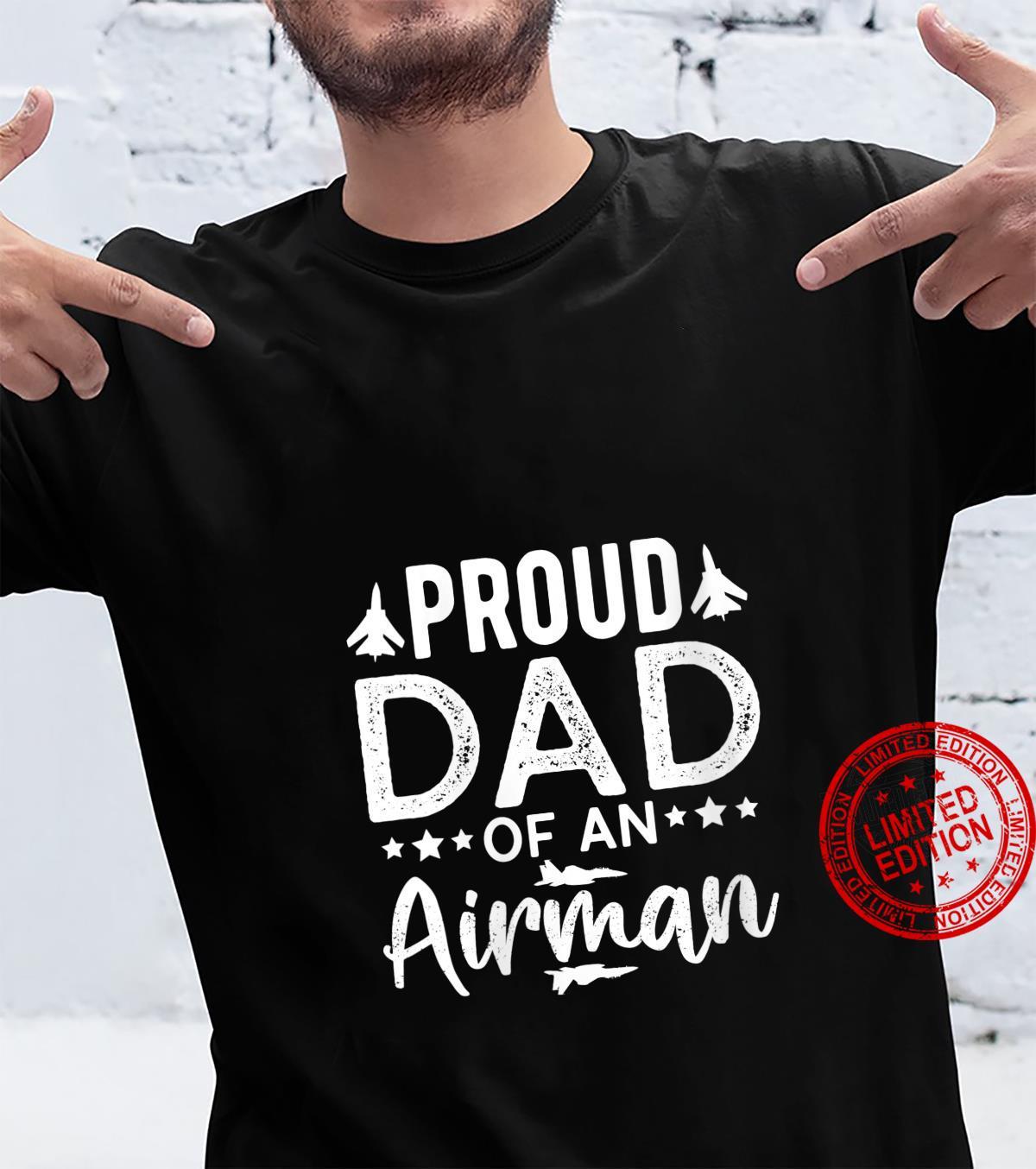Womens Proud Dad Of An Airman PilotForFathers Day Papa Shirt