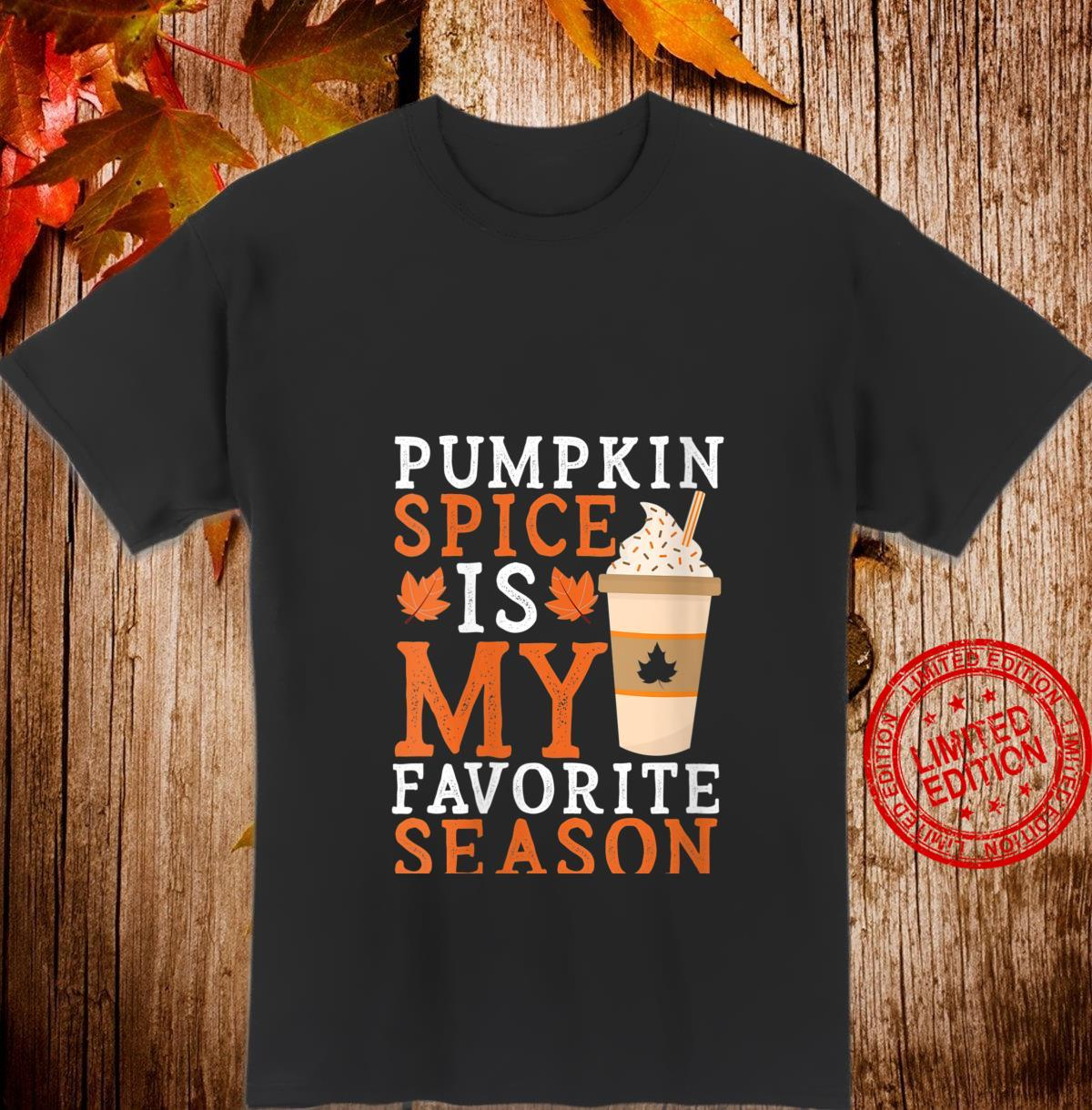 Womens Pumpkin Spice Is My Favorite Season Halloween Shirt