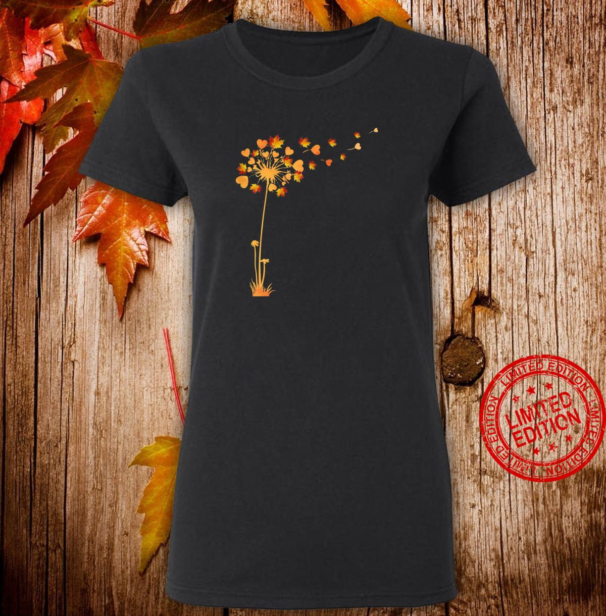 Womens Tu Cute Dandelion Thankgiving Fall Leaves Costume Shirt ladies tee