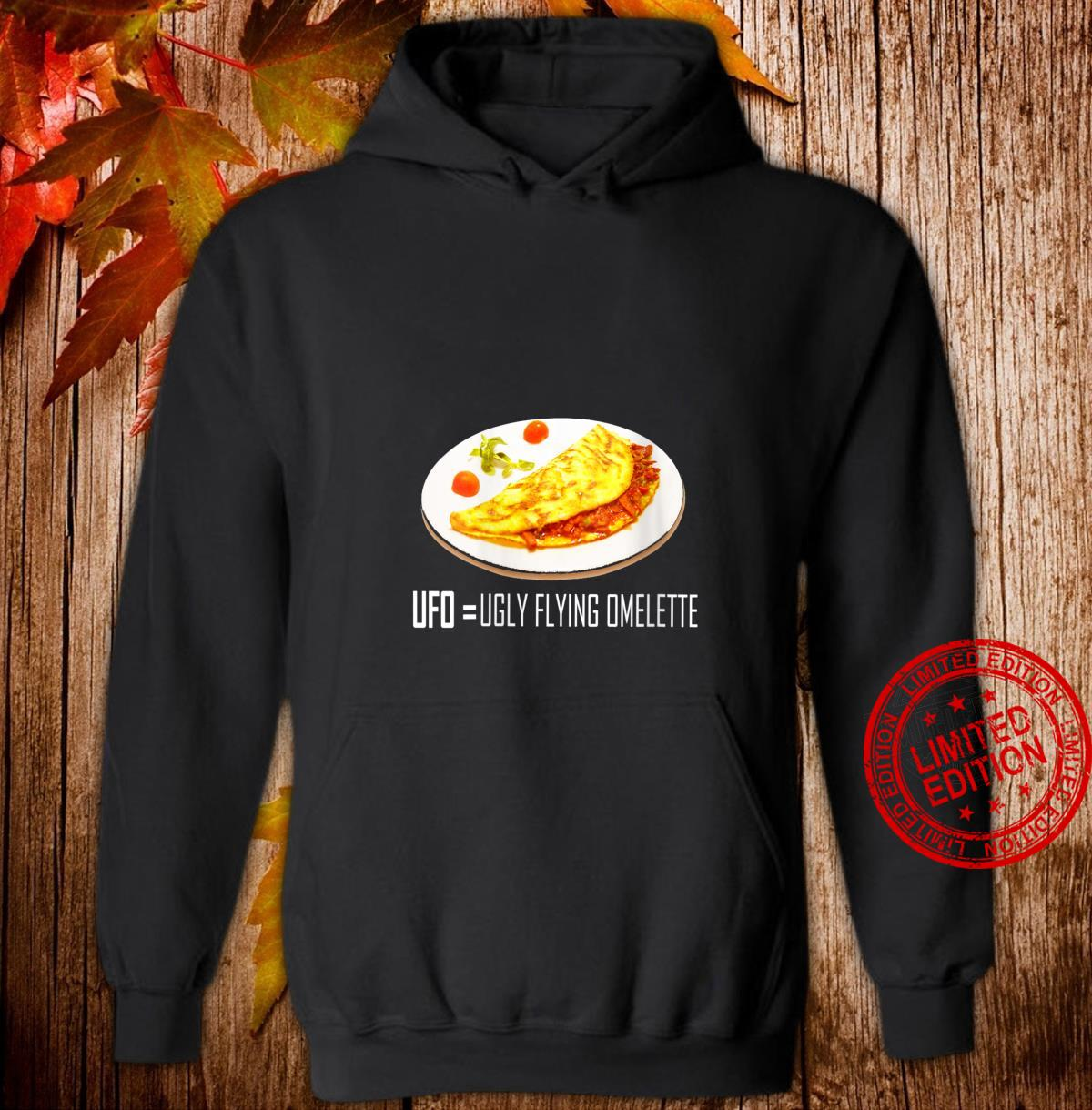 Womens UFO Ugly Flying Omelette Novelty Shirt hoodie