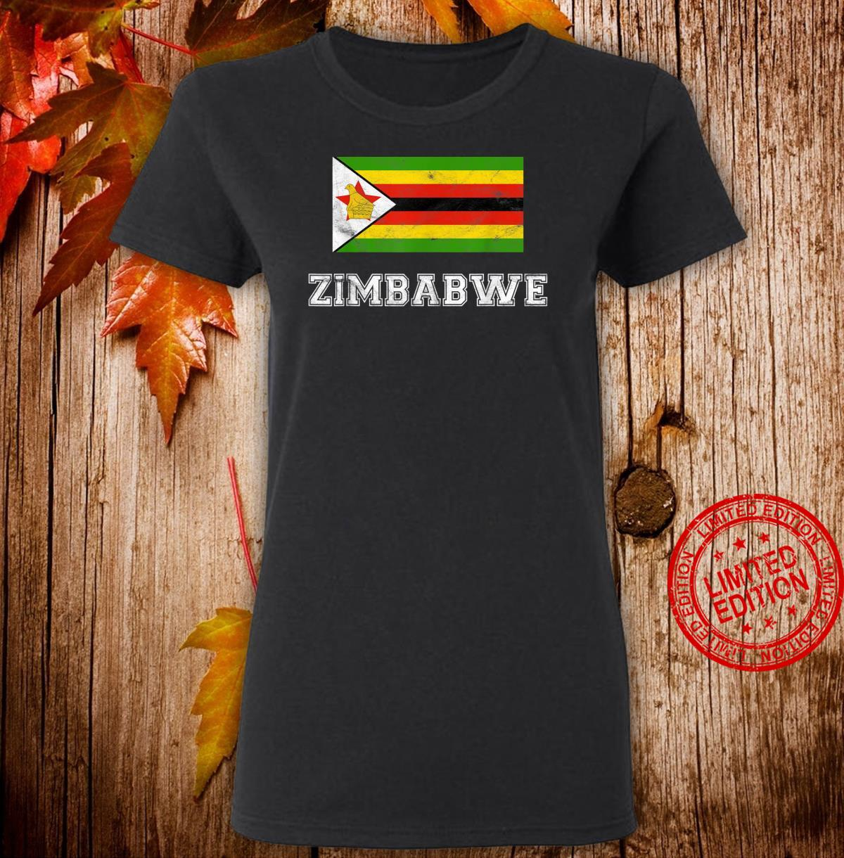 Zimbabwe Flag Vintage I Shirt ladies tee