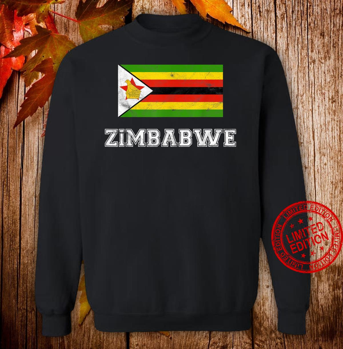 Zimbabwe Flag Vintage I Shirt sweater
