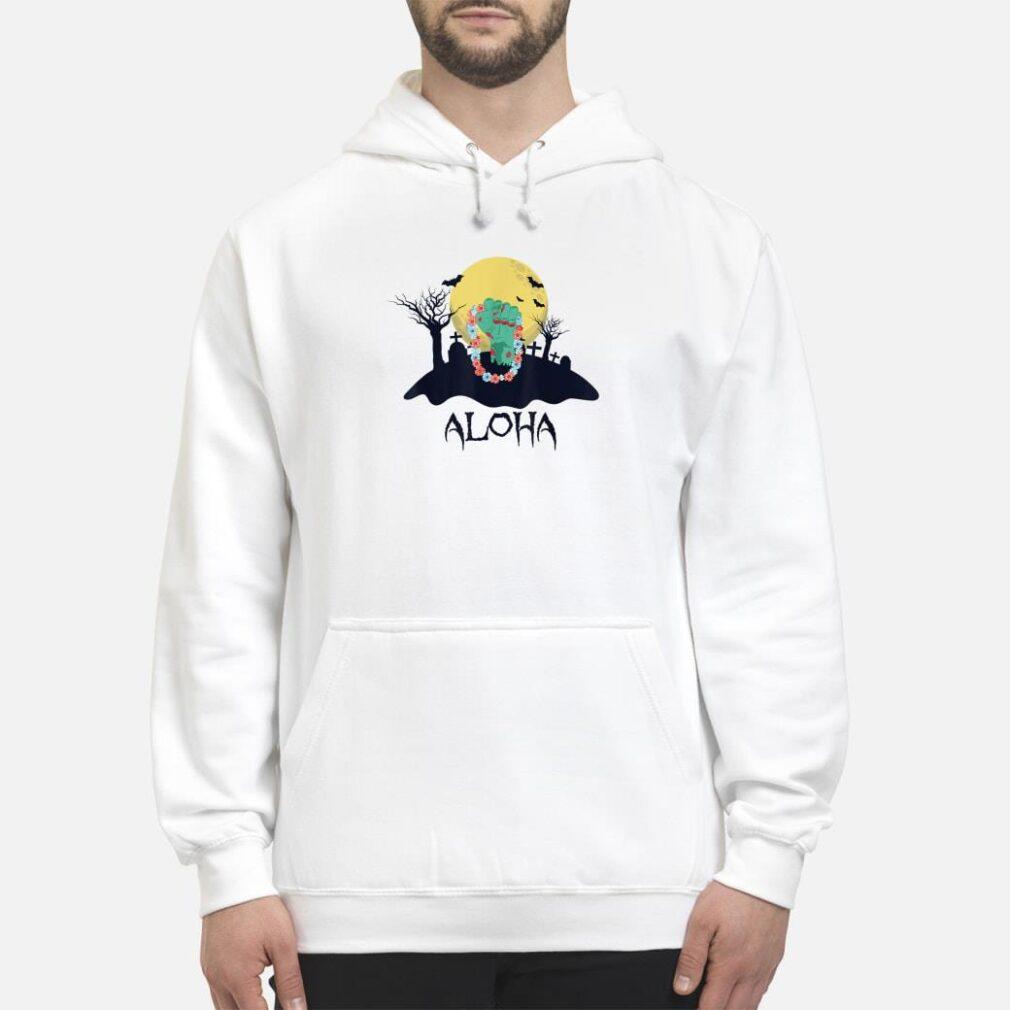 Zombie Hand With Hawaiian Lei Halloween Shirt hoodie