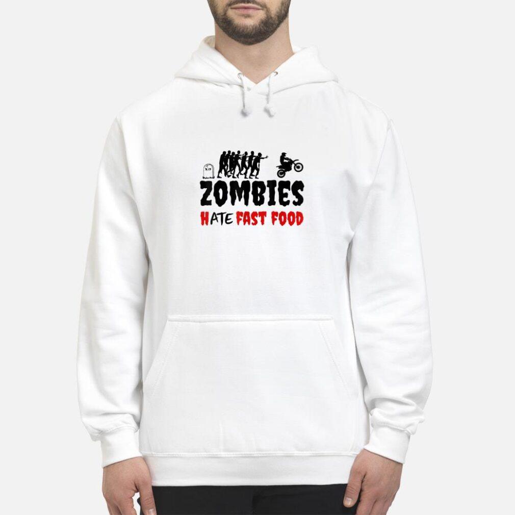 Zombies Hate Fast Food Dirt Bike Halloween Shirt hoodie