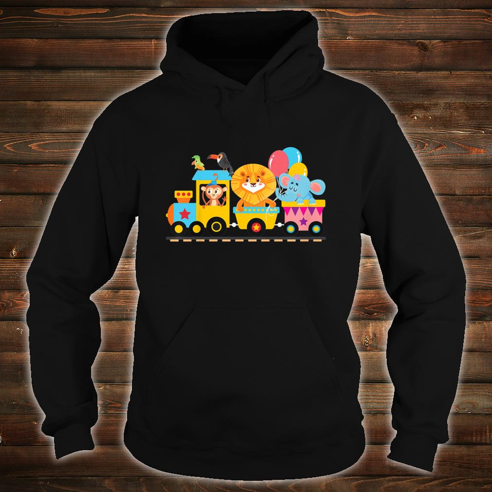 Zoo Animals Party Zoo Train Shirt hoodie