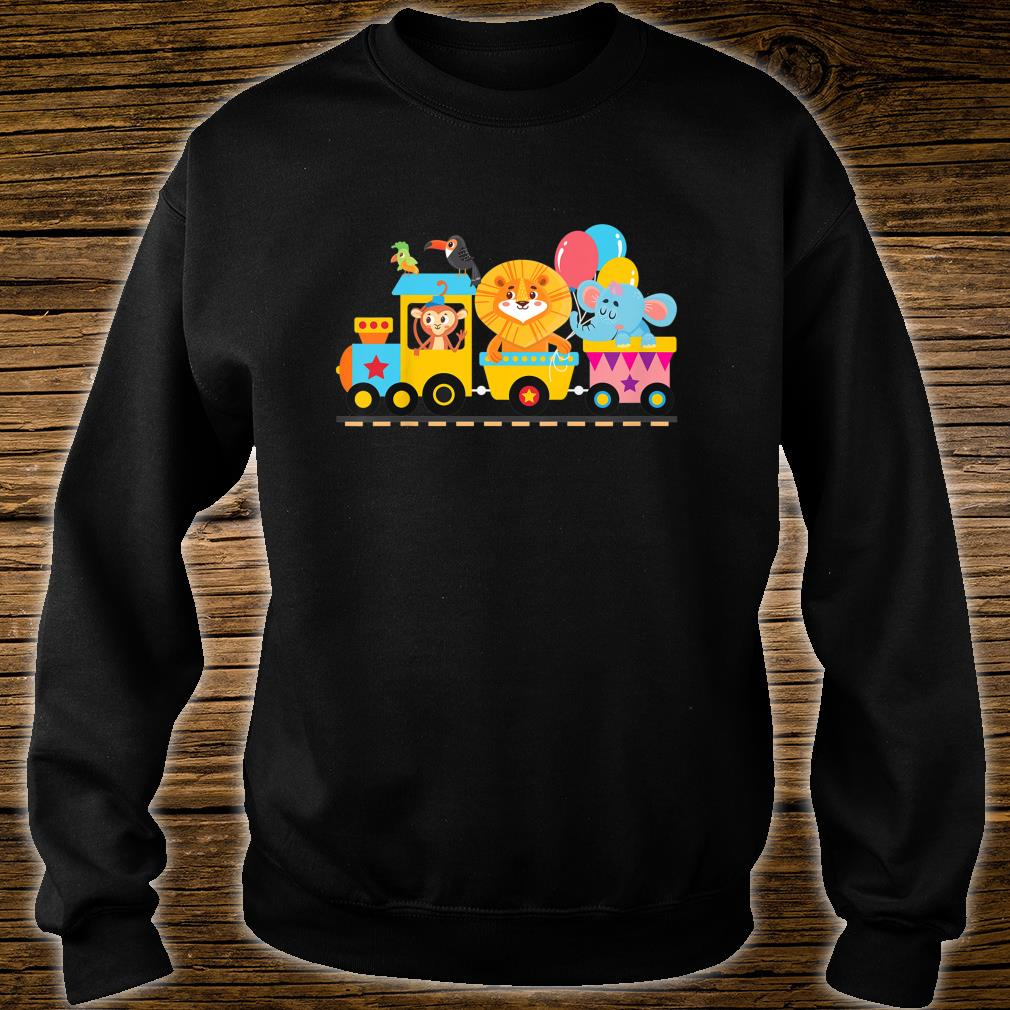 Zoo Animals Party Zoo Train Shirt sweater