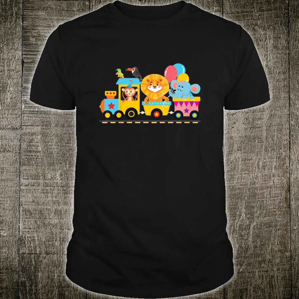 Zoo Animals Party Zoo Train Shirt