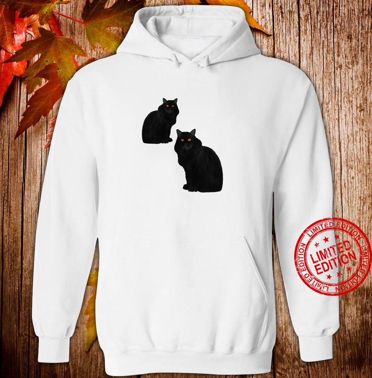 Zwei schwarze Katzen mit Bernstein Augen Shirt hoodie